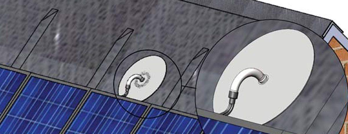 Kabeldoorvoer schuin dak