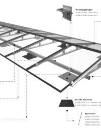 Jual Solar - Ballastvrij montagesysteem voor platte daken - Oost west opstelling