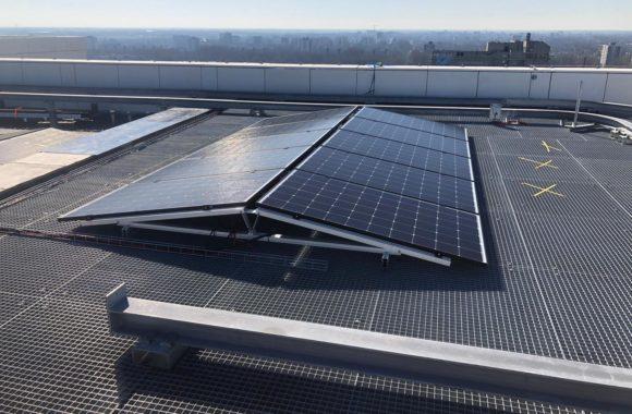 Jual Solar - Zonnepanelen op stalen roostervloer