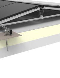 Jual Solar - Zonnepanelen op plat dak - Massief beton dak met isolatie