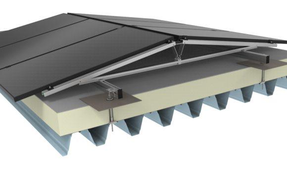 Jual Solar - Zonnepanelen op plat dak - Staaldak met isolatie