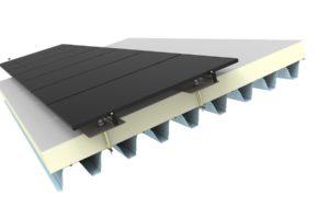 Jual Solar - Zonnepanelen op schuin dak met dakbedekking - geisoleerd staal dak